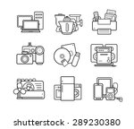 household appliances line art... | Shutterstock .eps vector #289230380