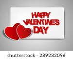 happy valentines day card. ... | Shutterstock . vector #289232096