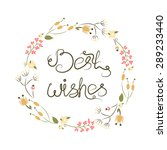 vector calligraphic inscription ... | Shutterstock .eps vector #289233440