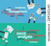 risk management concept. swot... | Shutterstock .eps vector #289242140