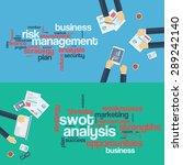 risk management concept. swot... | Shutterstock .eps vector #289242140