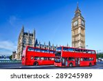 London With Red Bus Against Big ...