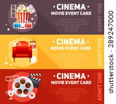 realistic cinema movie cards... | Shutterstock .eps vector #289247000