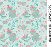 ornament seamless pattern with... | Shutterstock .eps vector #289247090