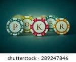 colorful poker chips  eps 10 | Shutterstock .eps vector #289247846