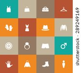 clothes icons universal set for ...   Shutterstock .eps vector #289249169