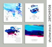 hand drawn collection of... | Shutterstock .eps vector #289249508