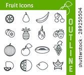 vector illustration of fruit... | Shutterstock .eps vector #289250504