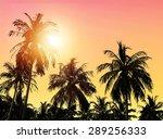 tropical paradise landscape.... | Shutterstock . vector #289256333