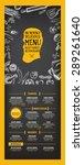 restaurant cafe menu  template... | Shutterstock .eps vector #289261640