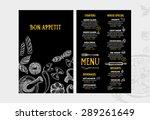 restaurant cafe menu  template... | Shutterstock .eps vector #289261649