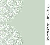 wedding invitation or greeting...   Shutterstock .eps vector #289265138