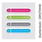 multicolor vector button set | Shutterstock .eps vector #289270448
