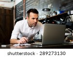 restaurant manager working on... | Shutterstock . vector #289273130