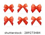 big set of gold gift bows with... | Shutterstock .eps vector #289273484