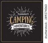 set of vintage summer camp... | Shutterstock .eps vector #289274063