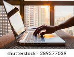 business person using laptop... | Shutterstock . vector #289277039