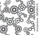 seamless pattern of gear wheels ... | Shutterstock . vector #289280174