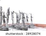some chessmen on a chessboard ...   Shutterstock . vector #28928074