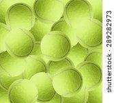 exotic yellow color tennis ball ... | Shutterstock . vector #289282973