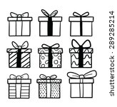 set of cartoon gifts | Shutterstock .eps vector #289285214