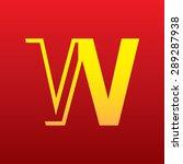 letter w logo icon sign design... | Shutterstock .eps vector #289287938
