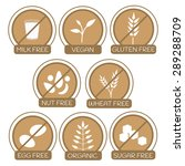 set of icons for allergens free ... | Shutterstock .eps vector #289288709