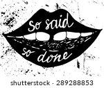 mouth on a grunge background... | Shutterstock .eps vector #289288853