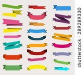 paper sticker  banner... | Shutterstock .eps vector #289289330