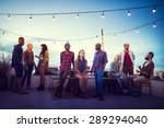 diversity sundown beach... | Shutterstock . vector #289294040