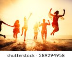 friendship freedom beach summer ... | Shutterstock . vector #289294958