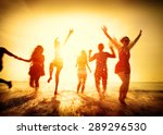 friendship freedom beach summer ... | Shutterstock . vector #289296530