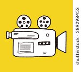 doodle video recorder | Shutterstock .eps vector #289298453
