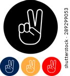 Vector Peace Sign   Hand...