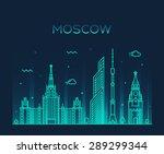 moscow skyline  detailed... | Shutterstock .eps vector #289299344