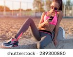 beautiful fitness athlete woman ... | Shutterstock . vector #289300880