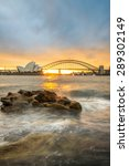 sunset at opera house and... | Shutterstock . vector #289302149