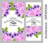 wildflowers. vintage invitation ... | Shutterstock .eps vector #289309268