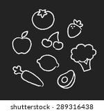 hand drawn drawings of fruits...   Shutterstock .eps vector #289316438