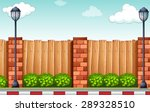 scenery of a street with wall... | Shutterstock .eps vector #289328510