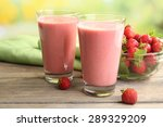 glasses of milkshake with... | Shutterstock . vector #289329209