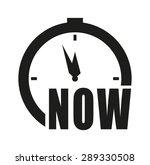 clock vector icon   now | Shutterstock .eps vector #289330508