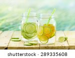 infused detox and diet water ... | Shutterstock . vector #289335608
