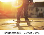 child with skateboard on the... | Shutterstock . vector #289352198
