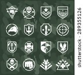 military symbol icons set. fist ... | Shutterstock . vector #289355126