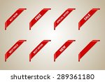 red corner ribbon set  best... | Shutterstock .eps vector #289361180