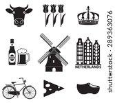 Netherlands Icon Set Isolated...
