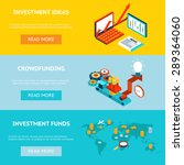 business investment banners.... | Shutterstock . vector #289364060