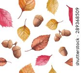 watercolor autumn nature... | Shutterstock .eps vector #289368509