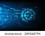 blue abstract technological...   Shutterstock .eps vector #289368794